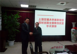 Academician Chen Shijie Present Lectures and Invited as SJTU Adjunct Professor